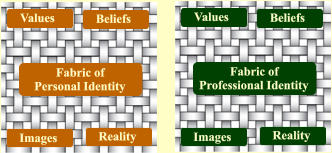 Fabric of  Professional Identity Values Images Beliefs Reality           Fabric of     Personal Identity Values Images Beliefs Reality